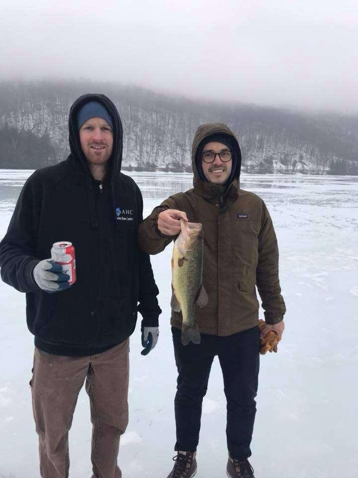 March 30, 2019: High School Friends Caught VT Bass Fish 1